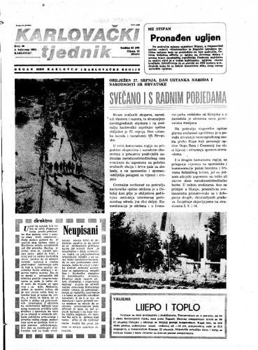 Karlovački tjednik: 1984 • 30