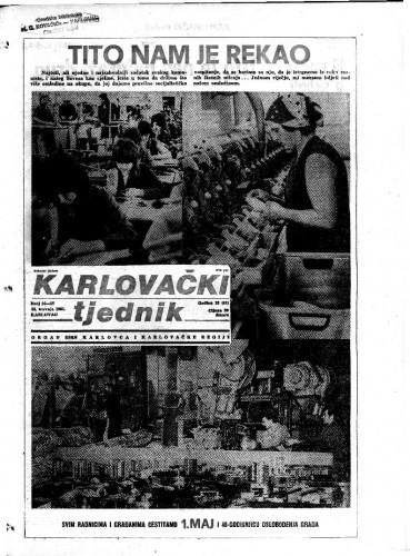 Karlovački tjednik: 1985 • 16/17