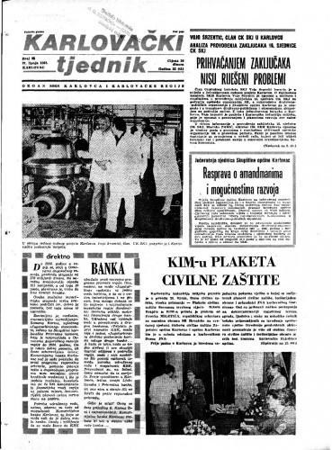 Karlovački tjednik: 1985 • 25