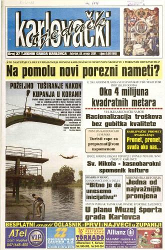 Karlovački tjednik: 2001 • 27