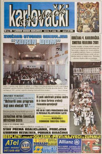 Karlovački tjednik: 2001 • 20
