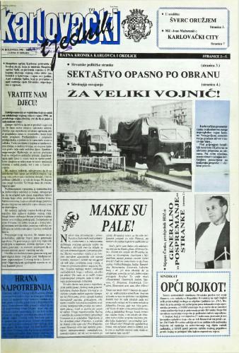 Karlovački tjednik: 1991 • 35