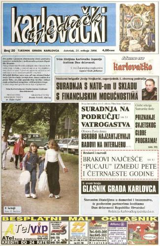 Karlovački tjednik: 2000 • 20