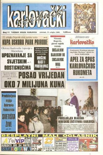 Karlovački tjednik: 2000 • 11