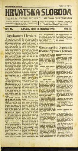 Hrvatska sloboda: 1923 • 46