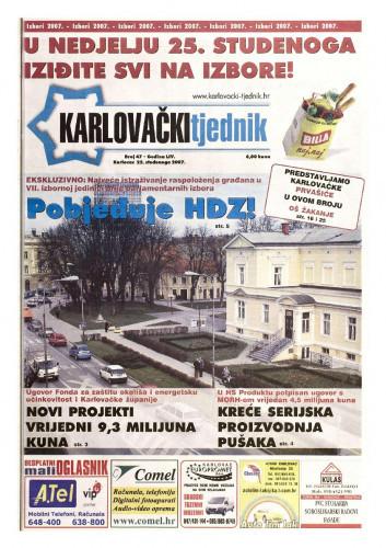 Karlovački tjednik: 2007 • 47