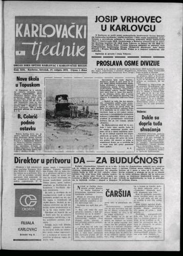 Karlovački tjednik: 1972 • 7