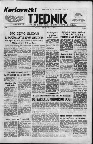Karlovački tjednik: 1953 • 9