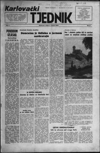 Karlovački tjednik: 1953 • 1