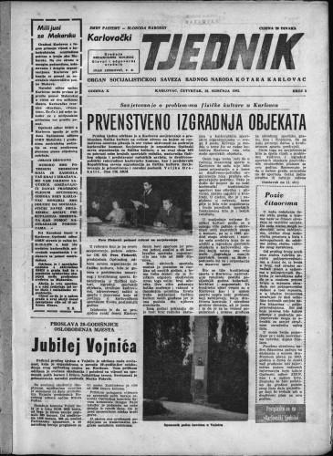 Karlovački tjednik: 1962 • 2