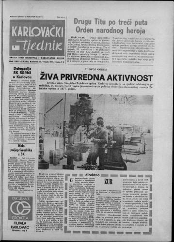 Karlovački tjednik: 1977 • 7