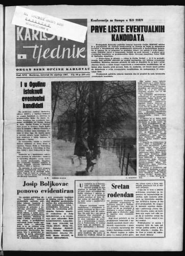 Karlovački tjednik: 1967 • 3