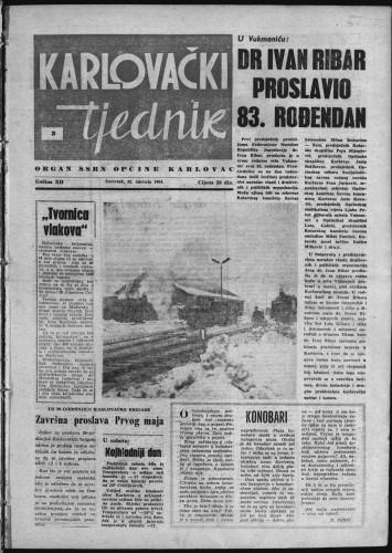 Karlovački tjednik: 1964 • 3