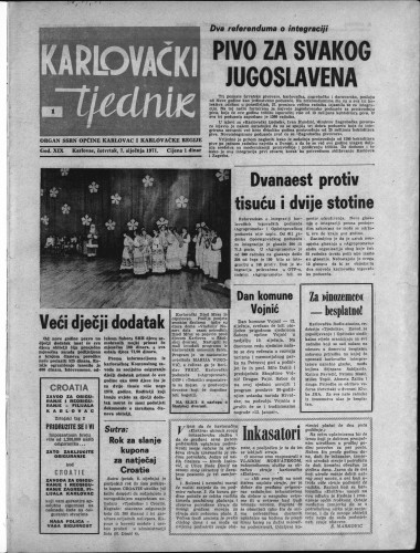 Karlovački tjednik: 1971 • 1