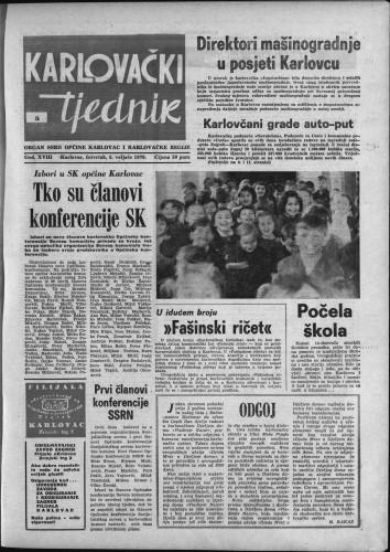 Karlovački tjednik: 1970 • 5