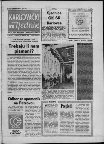 Karlovački tjednik: 1973 • 7