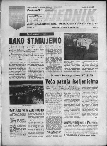 Karlovački tjednik: 1962 • 5