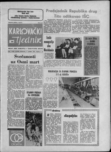 Karlovački tjednik: 1975 • 10