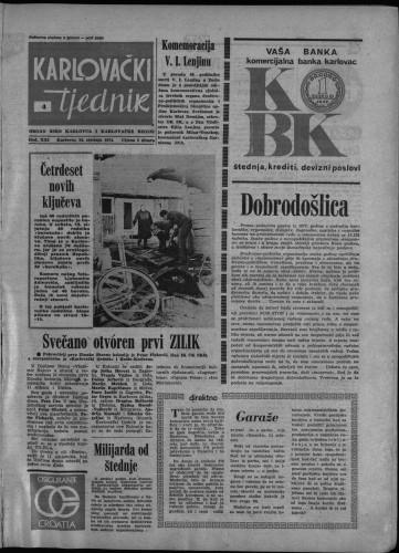 Karlovački tjednik: 1974 • 4