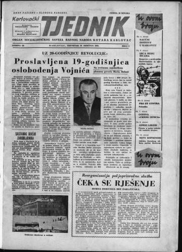 Karlovački tjednik: 1961 • 2
