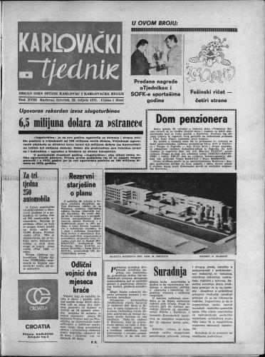 Karlovački tjednik: 1971 • 8