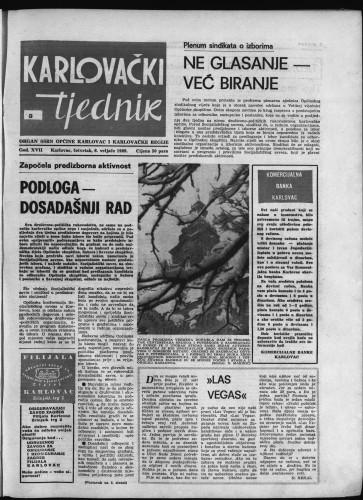 Karlovački tjednik: 1969 • 5