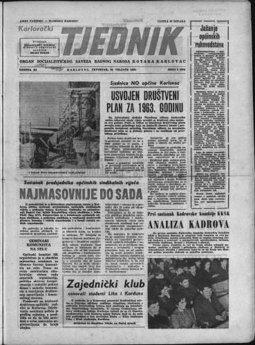Karlovački tjednik: 1963 • 8