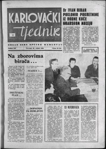 Karlovački tjednik: 1964 • 7