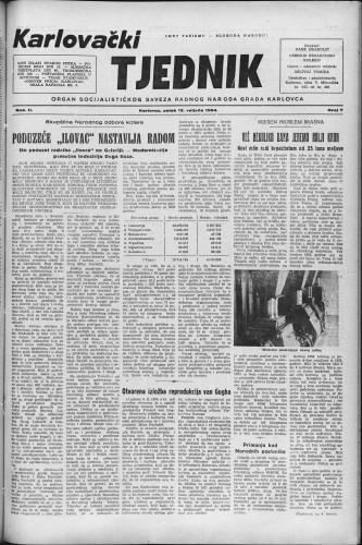Karlovački tjednik: 1954 • 7