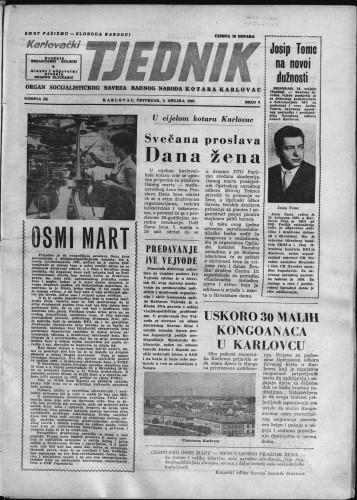 Karlovački tjednik: 1961 • 8