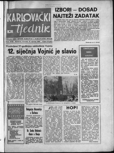 Karlovački tjednik: 1969 • 2