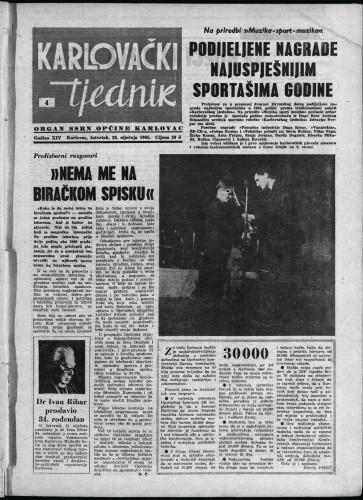 Karlovački tjednik: 1965 • 4