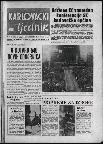 Karlovački tjednik: 1965 • 3