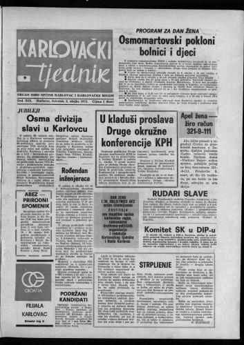 Karlovački tjednik: 1972 • 9
