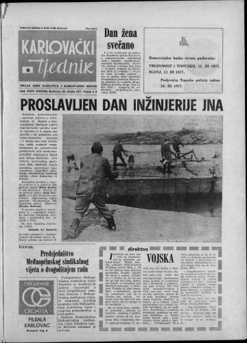 Karlovački tjednik: 1977 • 10