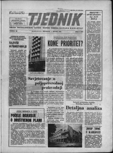 Karlovački tjednik: 1963 • 9