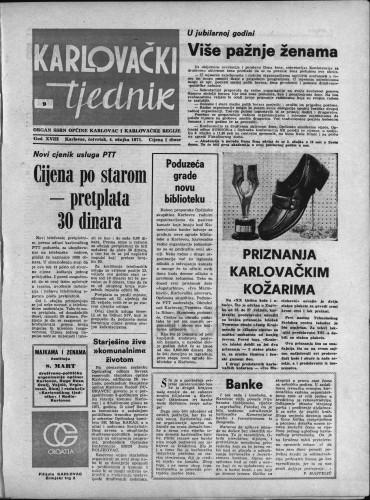 Karlovački tjednik: 1971 • 9
