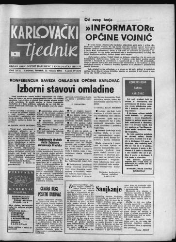 Karlovački tjednik: 1969 • 6