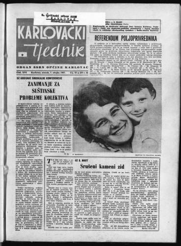 Karlovački tjednik: 1967 • 9
