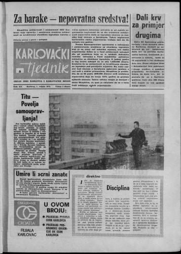 Karlovački tjednik: 1973 • 5