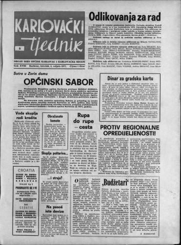 Karlovački tjednik: 1971 • 5