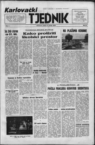 Karlovački tjednik: 1953 • 3