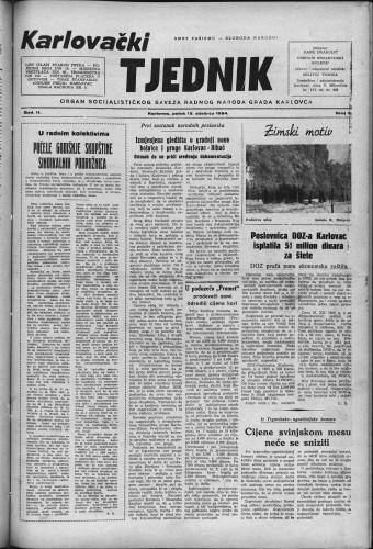 Karlovački tjednik: 1954 • 3