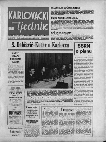 Karlovački tjednik: 1971 • 7