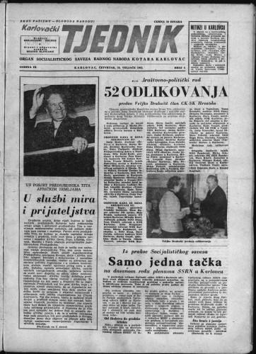 Karlovački tjednik: 1961 • 6