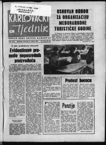 Karlovački tjednik: 1967 • 5