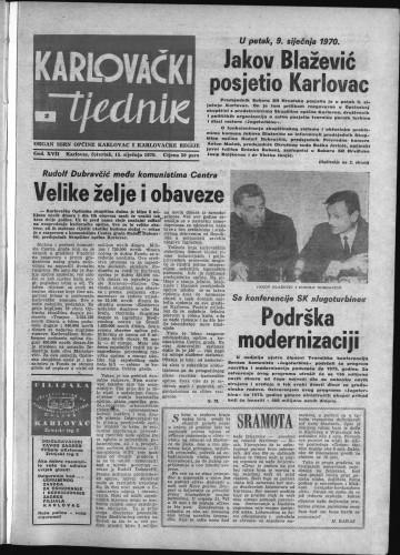 Karlovački tjednik: 1970 • 2