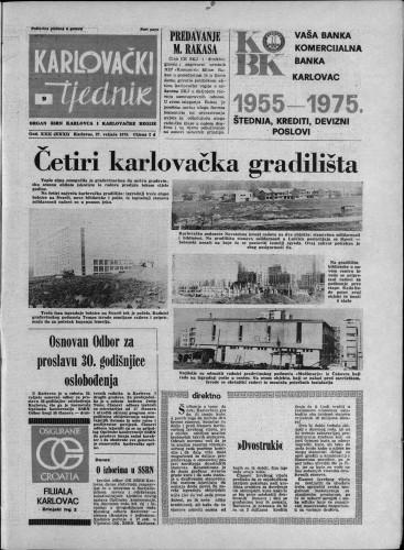 Karlovački tjednik: 1975 • 9