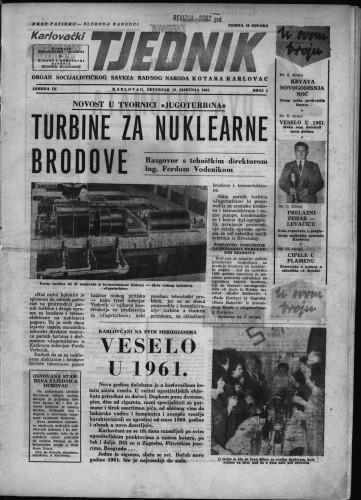 Karlovački tjednik: 1961 • 1