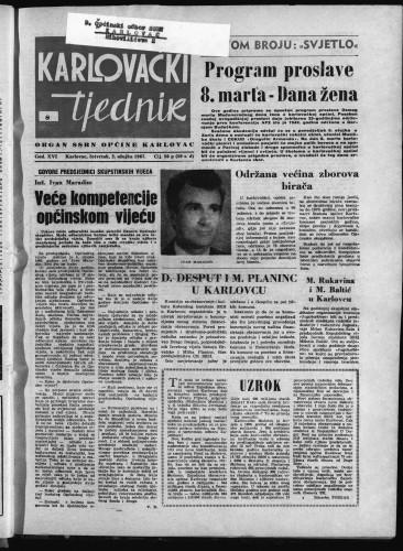 Karlovački tjednik: 1967 • 8